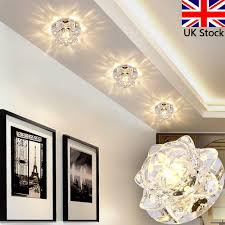 details about 10cm 5w crystal led ceiling lights chandelier downlight aisle lamp fitting uk