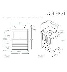 fascinating bathroom vanity height with vessel sink cabinet depth luxury standard ideas b
