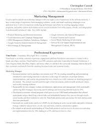 Social Media Marketing Manager Resume Templates At