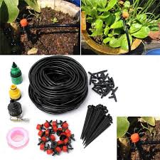 25m diy automatic micro drip irrigation system plant watering garden hose kits with adjule dripper smart