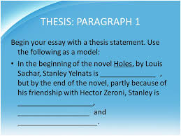embedded assessment unit writing a character analysis of a  thesis paragraph 1 begin your essay a thesis statement