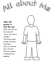 Small Picture Crayola All About Me coloring page each guest colors one then