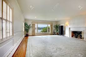 Large Living Room Rugs Large Empty Living Room With Huge Rug Fireplace And  Lake View