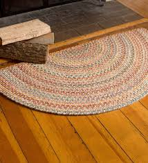 valuable half round hearth rug filigree wool 2 x 4 rugs home