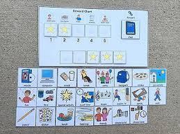 Behavior Chart Reward Behavior Visual Aid Schedule Pec