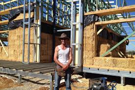 Straw bale houses  More than fairy tales    ABC Rural  Australian    Old building material making a come back