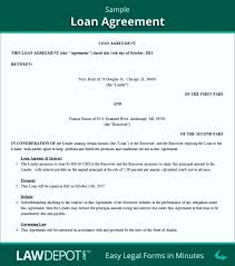 Family Loan Template Family Loan Agreement Template Uk Sydaily