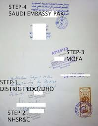 Medical Experience Letter Attestation From Saudi Embassy Pakistan