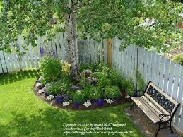 a neat idea for a circular flower bed in a corner bedroommagnificent lush landscaping ideas