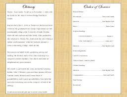Funeral Programs Samples Simple Single Fold Cross Memorial Program Funeral Pamphlets