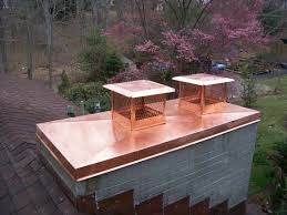 copper chase cover with european copper chimney pots copper multi flue chase cover and caps