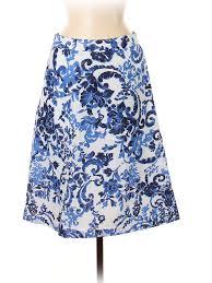 Details About Mario Serrani Women Blue Casual Skirt 8