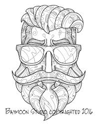 Small Picture Hipster Bearded Man Coloring Page Printable By BAYMOONSTUDIO