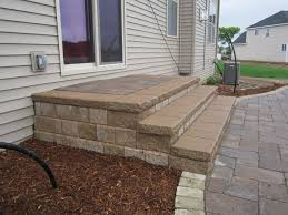 40 paver patio steps brick paving macomb county landscaping design