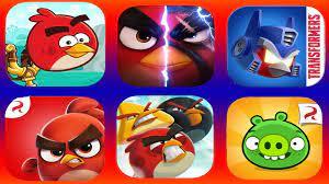 Angry Birds 2,Angry Birds Evolution,Angry Birds Friends,AB Dream Blast,Bad  Piggies, AB Transformers