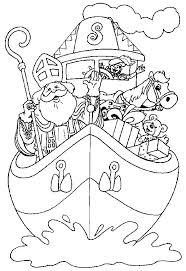 Kleurplaat Sinterklaas Met Zwarte Piet Al Ingekleurd Malvorlage