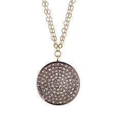 avindy pave diamond circle necklace