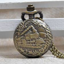 popular engraved gifts men buy cheap engraved gifts men lots from antique bronze train engrave small quartz pocket watch analog pendant necklace mens womens gifts