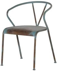 distressed metal furniture. Loft Blue Distressed Metal Chair Distressed Metal Furniture S