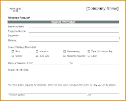 Leave Of Absence Form Template Request Letter Format For Approval Ms Word Certified Mail