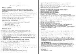 Php Developer Resume Back End Developer Cv Examples The Cv Database
