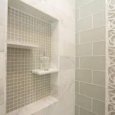 green subway tile shower