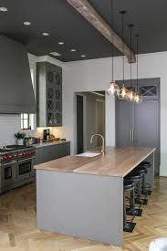 charcoal gray herringbone kitchen island