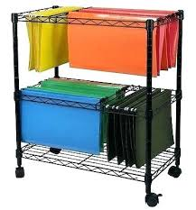 rolling office cart. rolling office cart portable file 2 tier home business document .