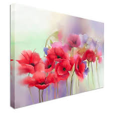 image is loading red poppy flowers painting blur background canvas wall  on red poppy flower wall art with red poppy flowers painting blur background canvas wall art prints