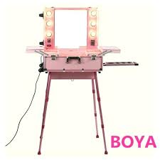 makeup box with mirror and lights