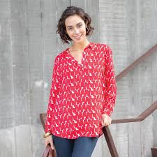 Rock Paper Flower Tunics Rockflowerpaper Audrey Tunic In Red And White
