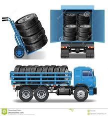 Vector Tire Delivery Icons Stock Vector Illustration Of