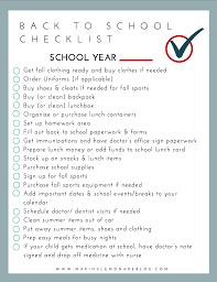 Checklist For School Free Printable Back To School Checklist