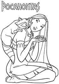 Small Picture 18 best Pocahontas Disney Coloring Pages images on Pinterest