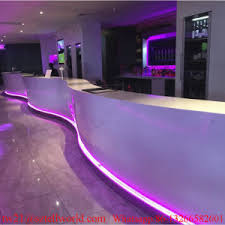 commercial bar lighting. Long Curved Shape White Corian LED Lighting Commercial Bar Counter E