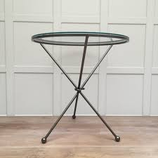 Glass Round Side Table Metal Glass Round Side Table Kensington Design
