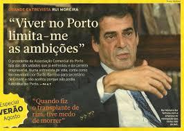 Resultado de imagem para rui moreira presidente da associação comercial do porto