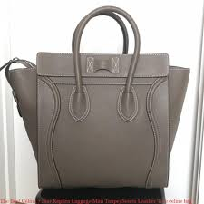 the best céline 7 star replica luggage mini taupe souris leather tote celine bag