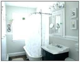 claw tub shower curtain solution rod ceiling mount clawfoot bathtub liner