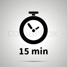 Fifteen Minutes Timer Fifteen Minutes Timer Simple Black Stock Vector Colourbox