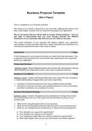 Informal Business Plan Template Business Proposal Template Business