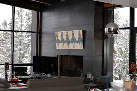 metal clad fireplace mantel