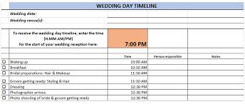 Wedding Layout Generator Wedding Day Timeline Template Generator Printable Download