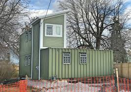 shipping container home labor. Construction Of An L-shaped House Using 3 Shipping Containers Started On Kail Street In Black Rock Last July And Is Now Finished. Container Home Labor