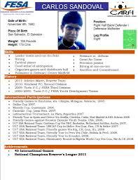 Fesa Player Profile For College Coaches Carlos Sandoval Premier