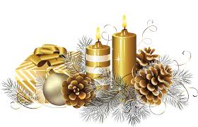 Christmas candle PNG Transparent image