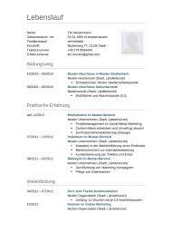 Lebenslauf Muster Vorlage 4 Lehrer 1 Lebenslauf Tabellarischer