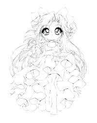 Chibi Anime Coloring Pages Cute Playanamehelp