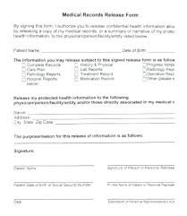 Sample Medical Records Release Form Free Download Medical Records E Form Authorization Using