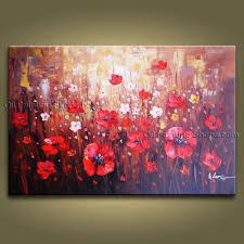 trendy ideas poppy wall art metal canvas stickers nz in red uk yellow orange lakeland 2